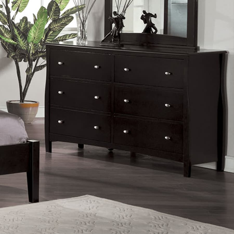 Furniture Of America Milano Espresso 6 Drawer Dresser