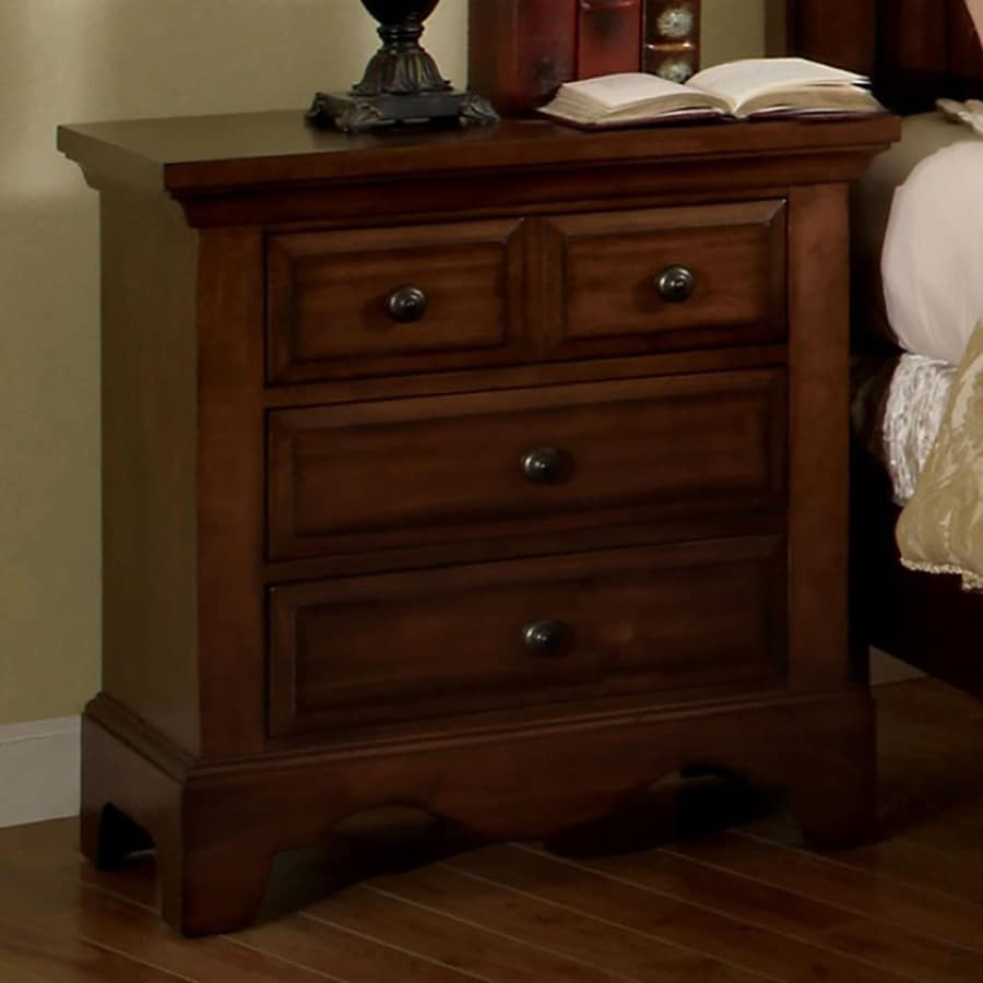 Furniture of America Palm Coast Light Walnut Nightstand