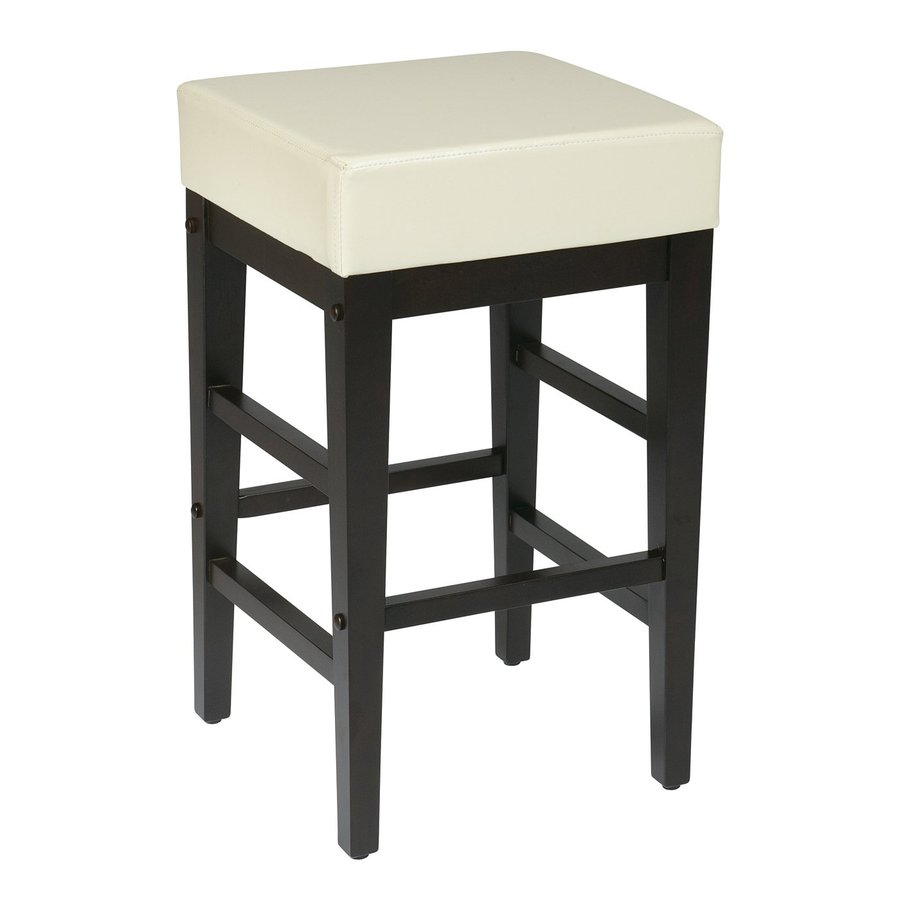 Shop Office Star Metro Cream Espresso Counter Stool At