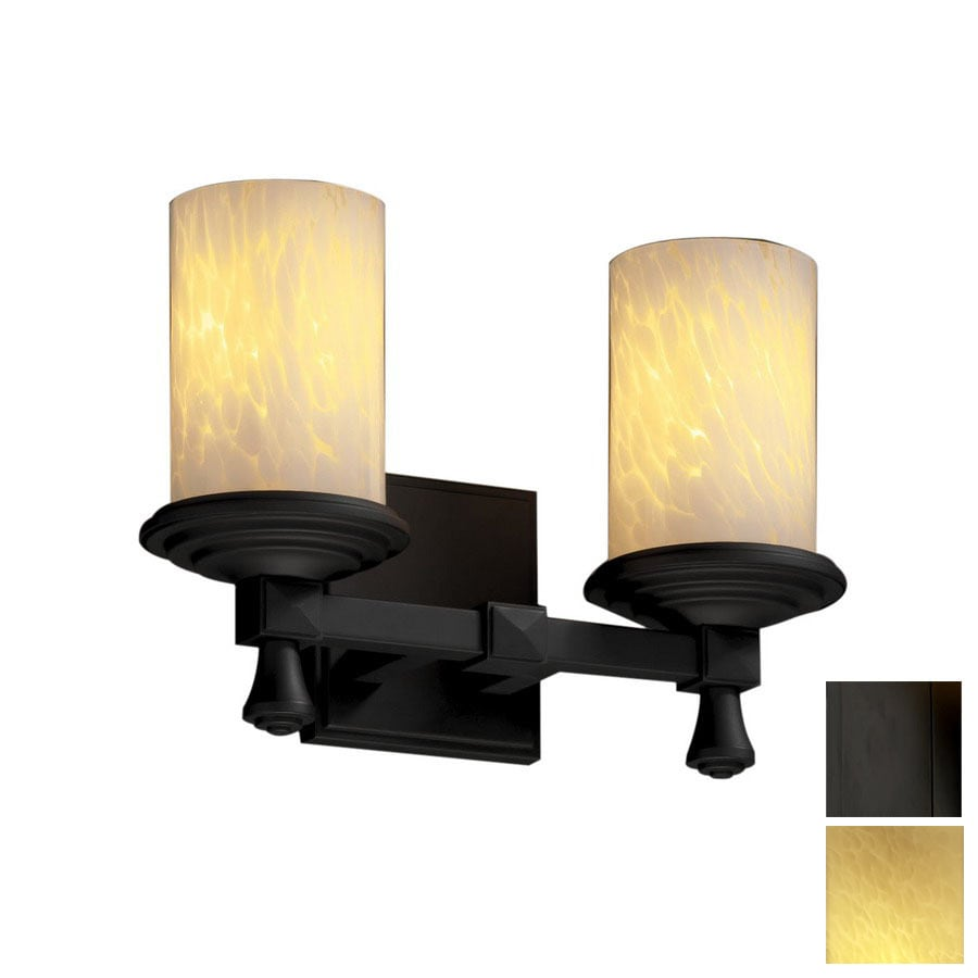 Cascadia Lighting Fusion Deco 12.75-in W 2-Light Matte Black Arm Hardwired Wall Sconce