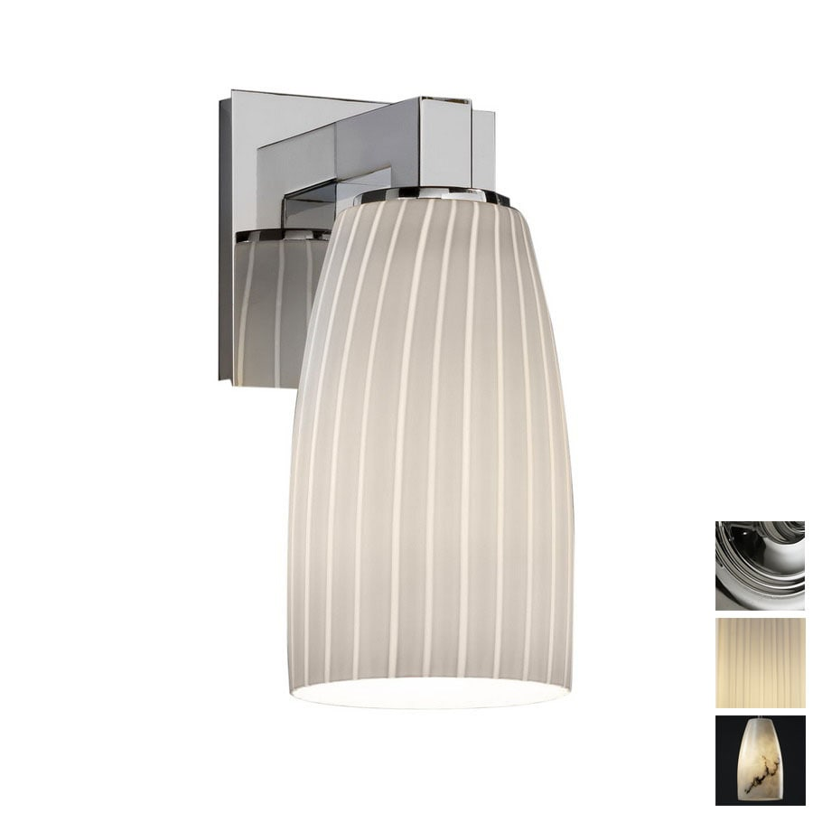 Cascadia Lighting Fusion Modular 4.75-in W 1-Light Polished Chrome Arm Hardwired Wall Sconce