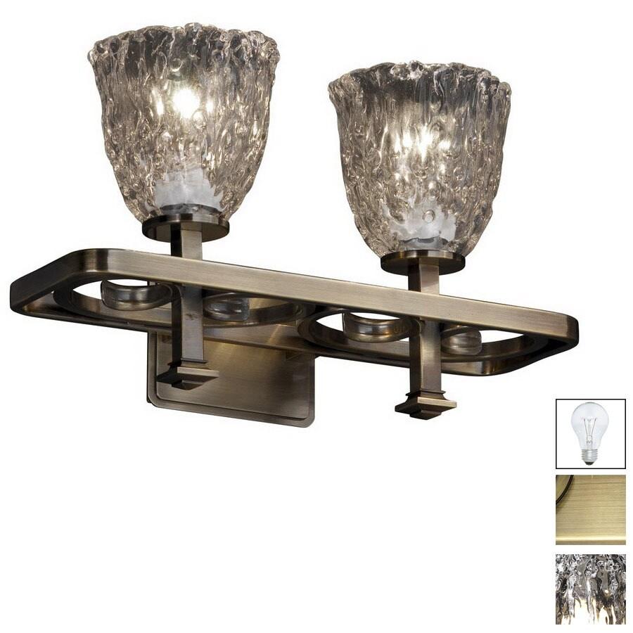Antique Brass Bathroom Lighting: Shop Cascadia Lighting 2-Light Veneto Luce Arcadia Antique