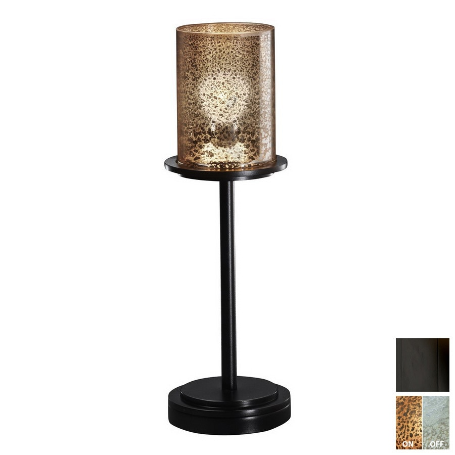 shop cascadia lighting 3 way matte black touch table lamp with glass shade at. Black Bedroom Furniture Sets. Home Design Ideas