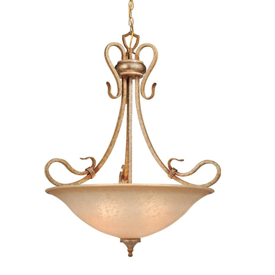 Cascadia Lighting Berkeley 26-in Corinthian Patina Mediterranean Single Bowl Pendant