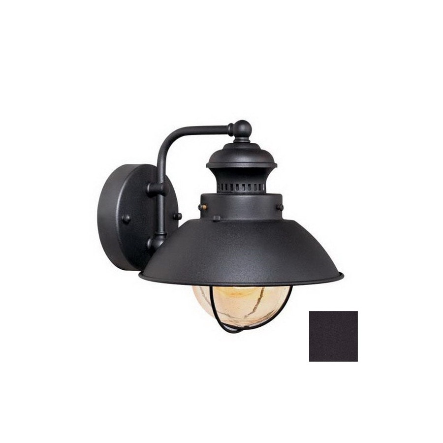 Cascadia Lighting Nautical 8-in Textured Black Outdoor Wall Light
