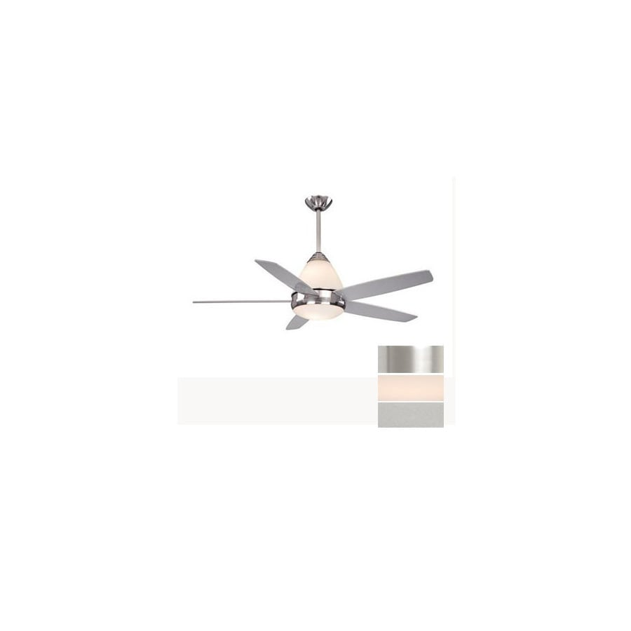 Cascadia Lighting 52-in Fresco II Satin Nickel Ceiling Fan with Light Kit and Remote