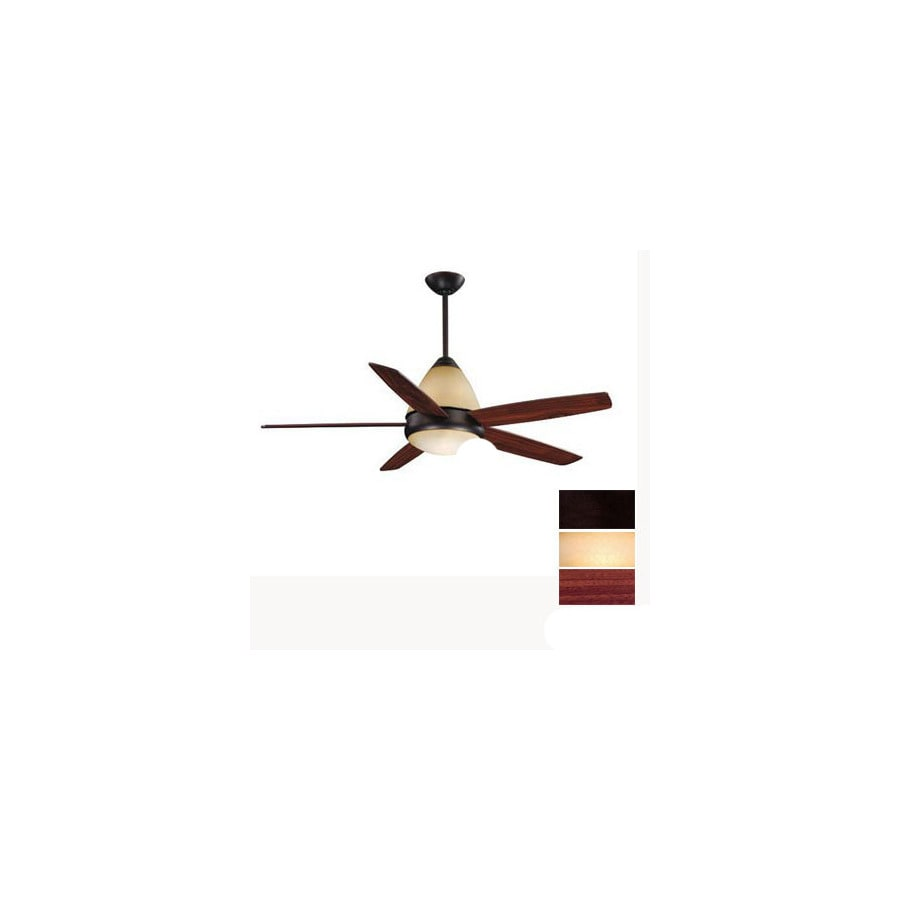 Cascadia Lighting 52-in Fresco II Oil-Rubbed Bronze Ceiling Fan with Light Kit and Remote
