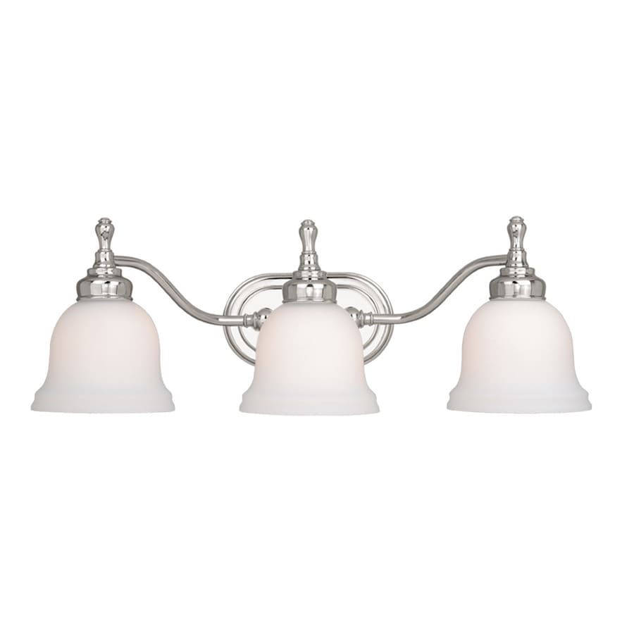 Shop Cascadia Lighting Cologne 3 Light 8 In Chrome Bell Vanity Light At