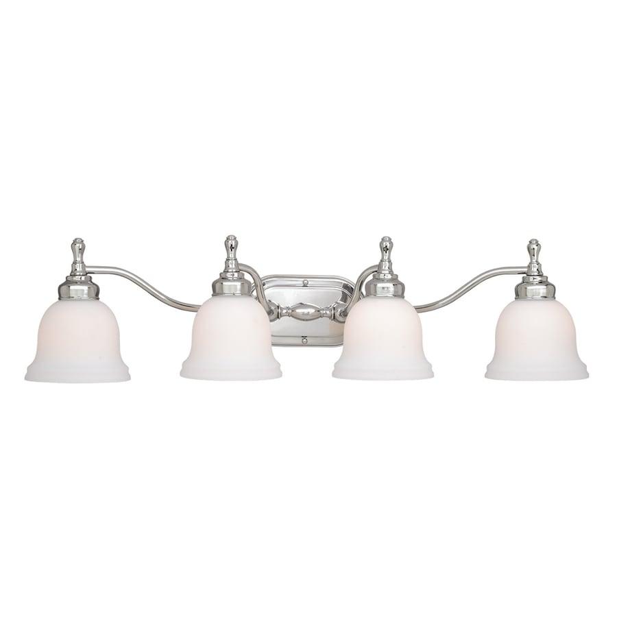 Cascadia Lighting Cologne 4-Light 8-in Chrome Bell Vanity Light