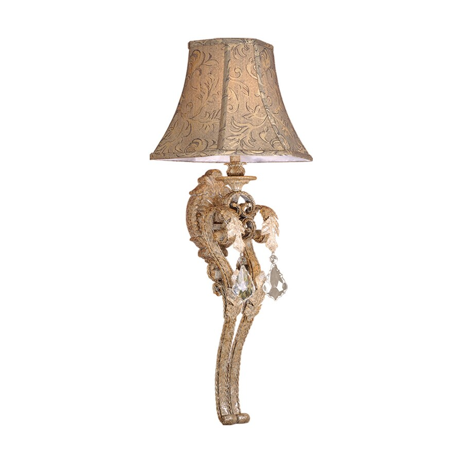 Cascadia Lighting Empire 13.75-in W 1-Light Phoenician Platinum Arm Hardwired Wall Sconce