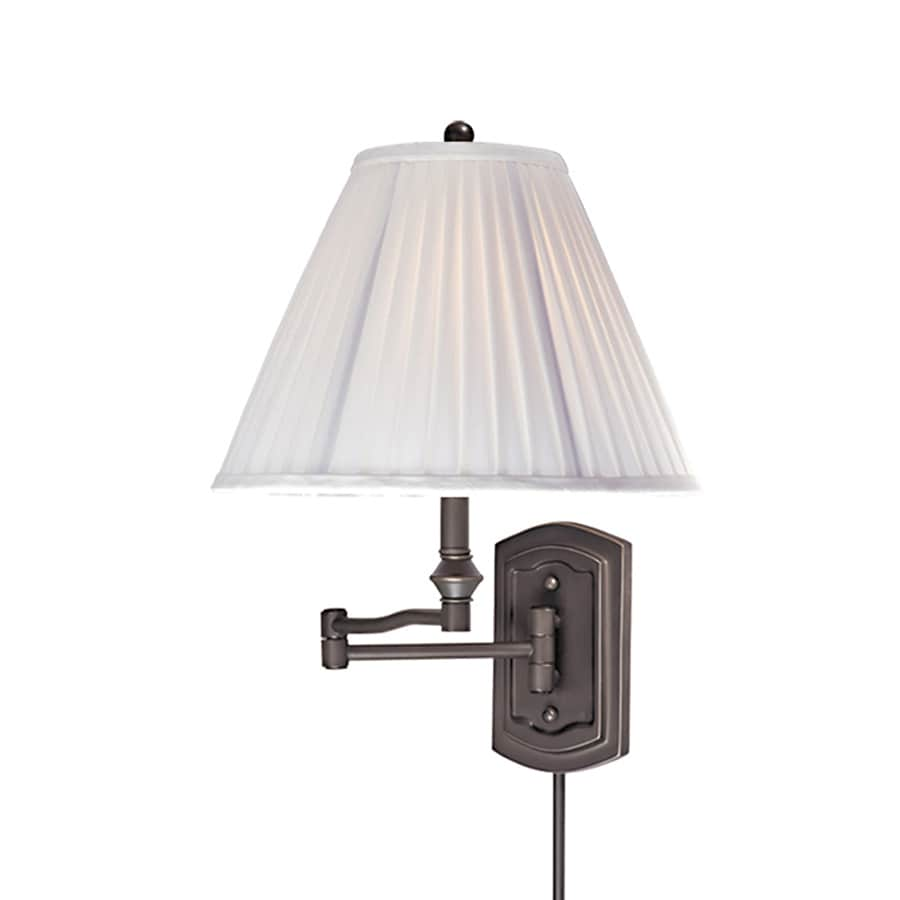 Plug In Wall Lamps Lowes : Shop Cascadia Lighting Swing Arm 12-in W 1-Light Oil-Rubbed Bronze Arm Plug-in Wall Sconce at ...