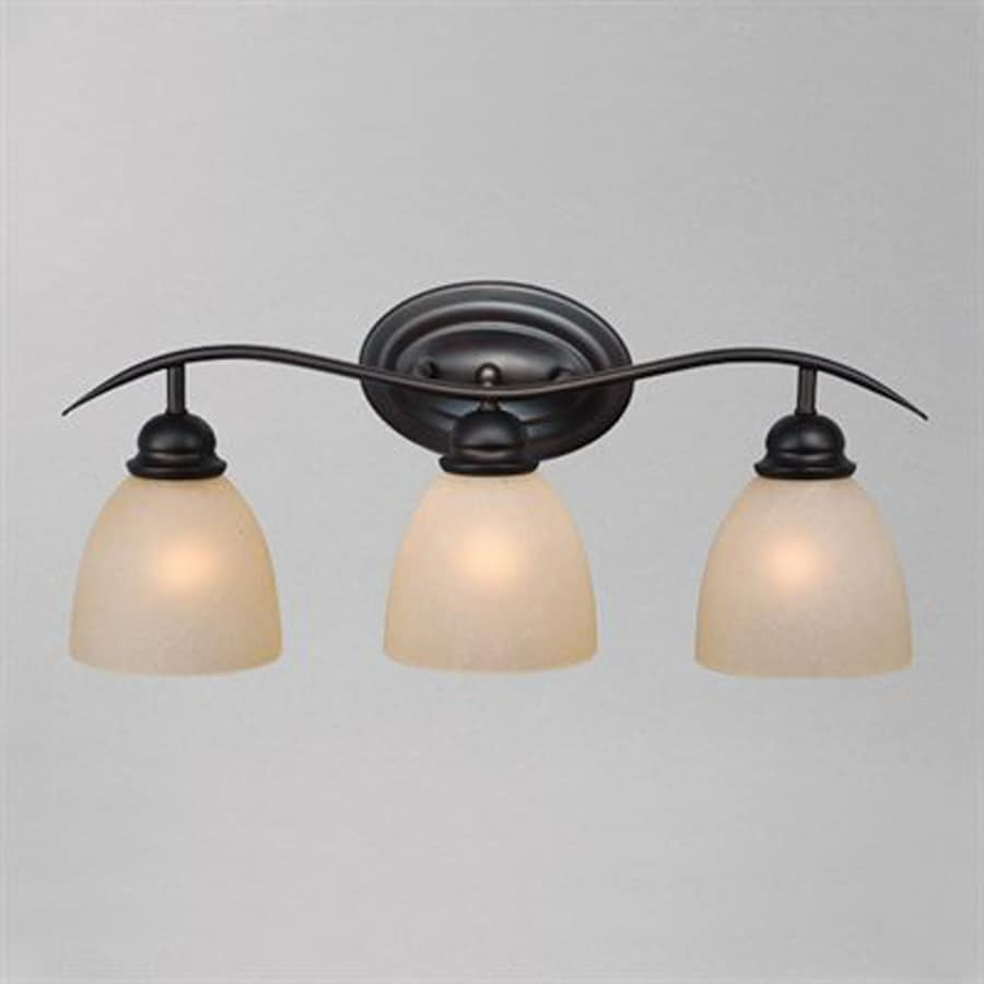 Cascadia Lighting Avalon 3-Light 9.25-in Oiled Burnished Bronze Bell Vanity Light