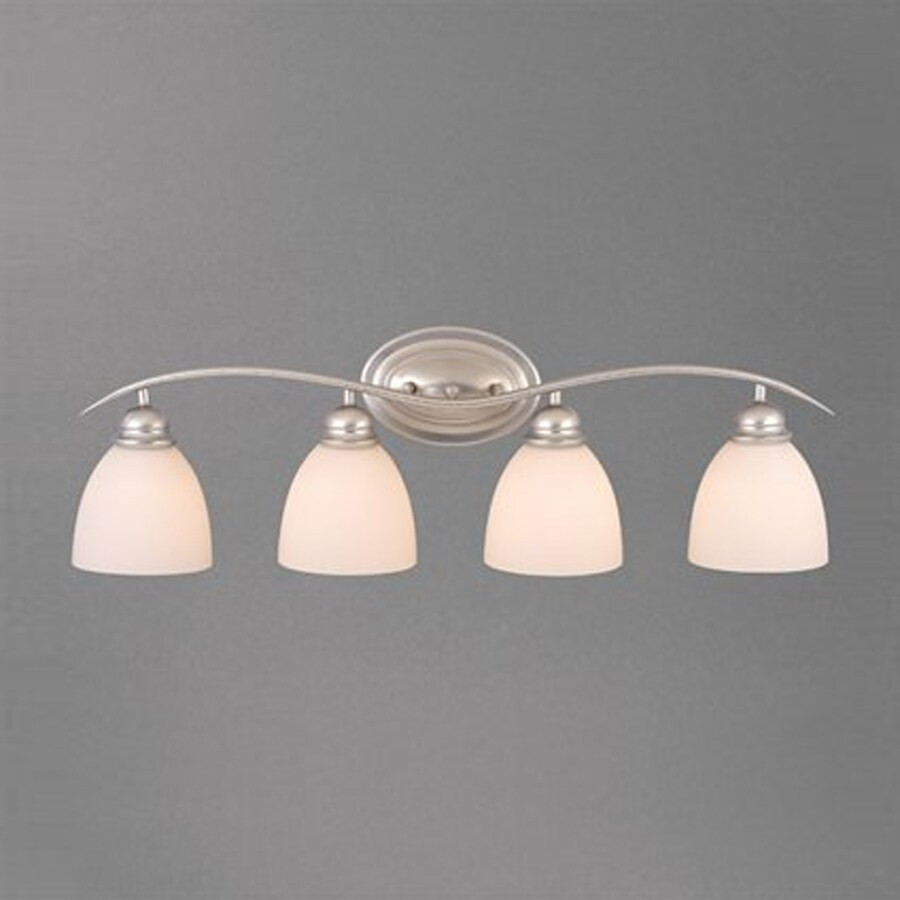 Cascadia Lighting Avalon 4-Light 9.25-in Brushed Nickel Bell Vanity Light