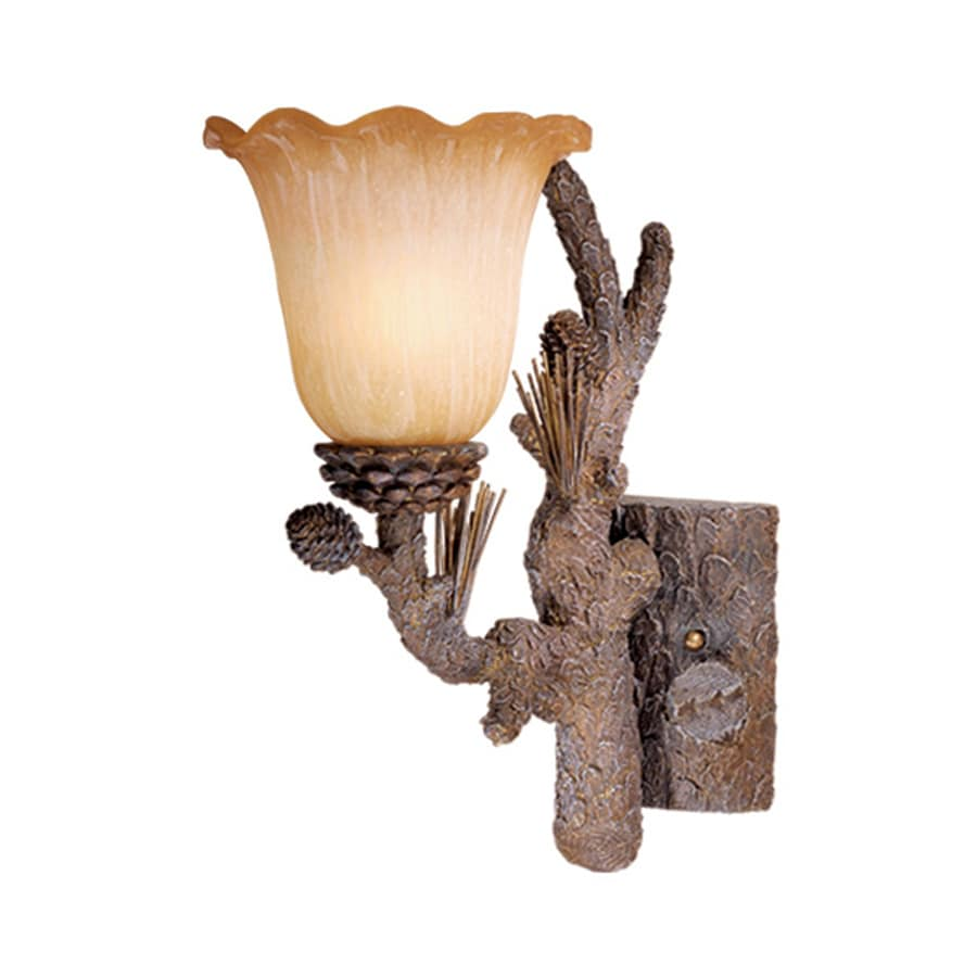 Cascadia Lighting Aspen 7-in W 1-Light Pine Tree Arm Hardwired Wall Sconce