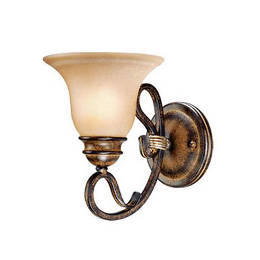 Cascadia Lighting Berkeley 6.5-in W 1-Light Aged Walnut Arm Hardwired Wall Sconce