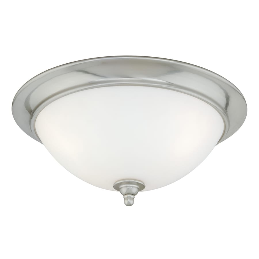 Cascadia Lighting Mont Blanc 16.25-in W Satin Nickel Flush Mount Light