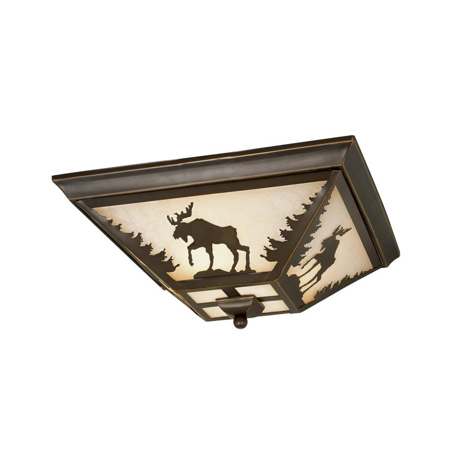 Cascadia Lighting Yellowstone 14-in W Burnished Bronze Flush Mount Light