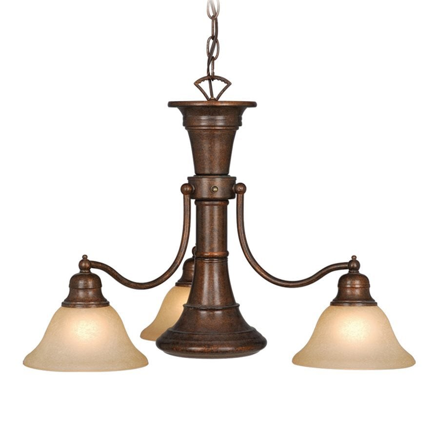 Cascadia Lighting Standford 26-in 4-Light Royal Bronze Shaded Chandelier
