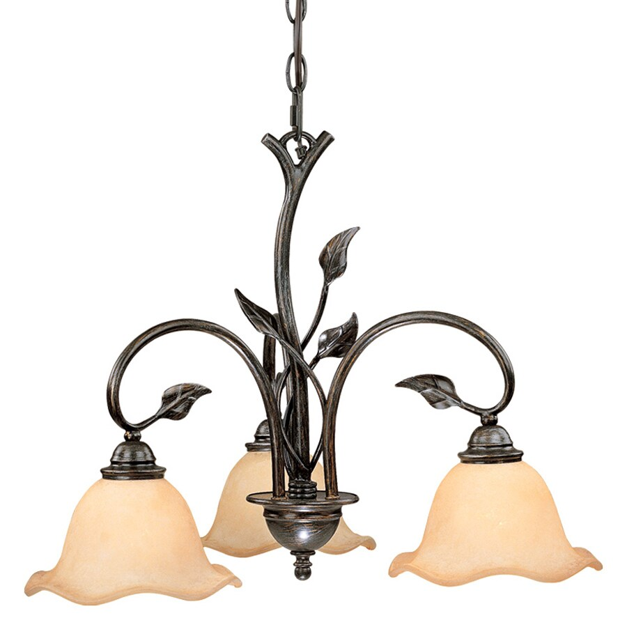 Shop cascadia lighting vine 22 in 3 light oil shale tinted glass cascadia lighting vine 22 in 3 light oil shale tinted glass shaded chandelier aloadofball Image collections