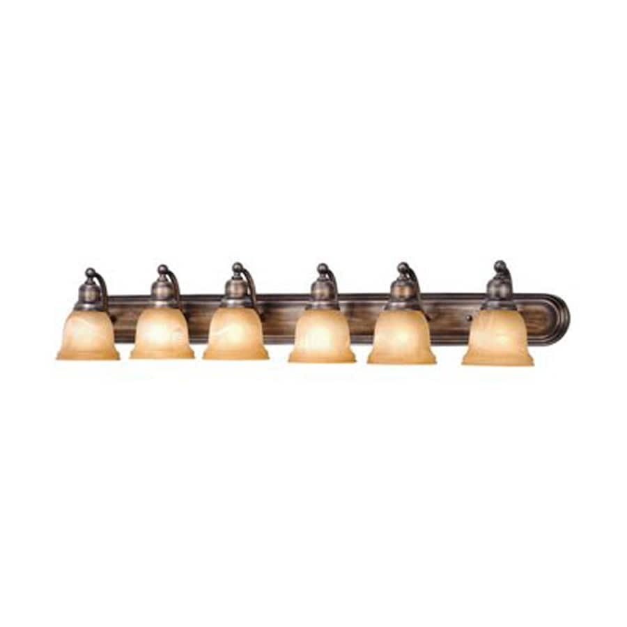 Cascadia Lighting Lasalle 6-Light 8.5-in Parisian Bronze Bell Vanity Light