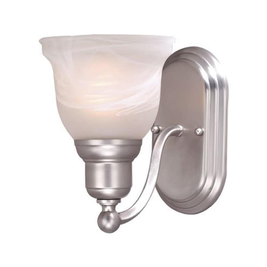Cascadia lighting lasalle 1 light 6 in brushed nickel bell - 8 light bathroom fixture brushed nickel ...