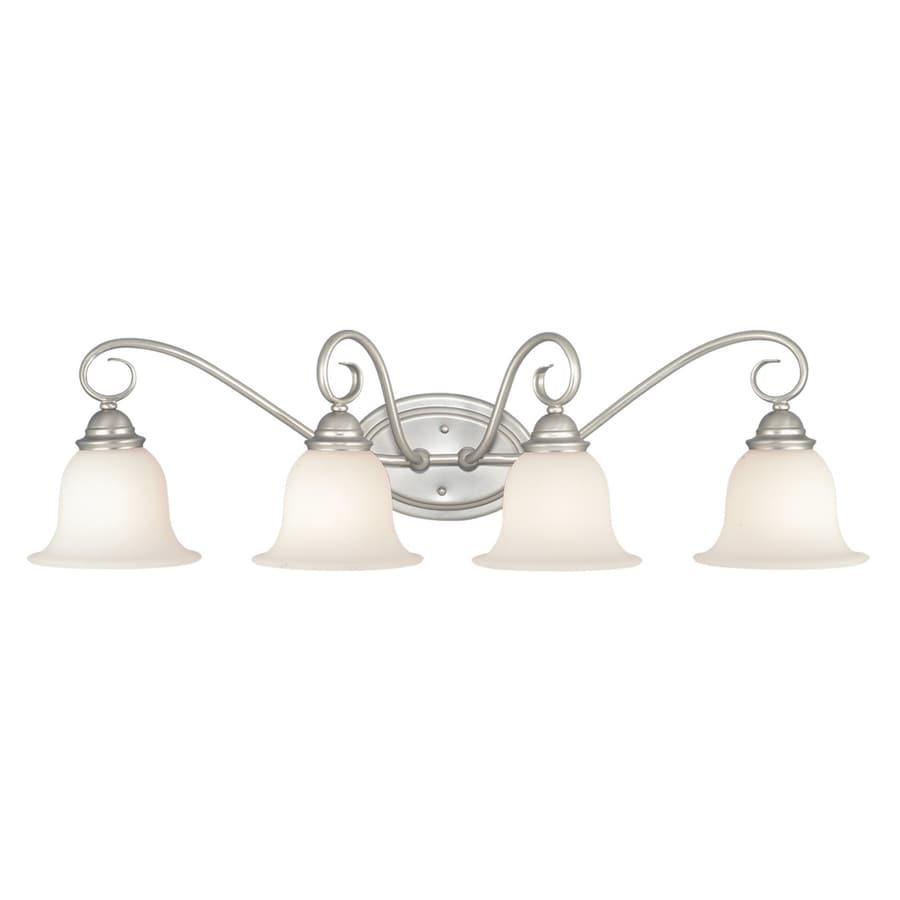 Cascadia Lighting Picasso 4-Light 9.75-in Brushed Nickel Bell Vanity Light