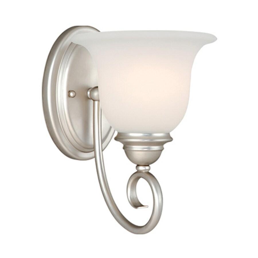 Cascadia Lighting Picasso 1-Light 9.75-in Brushed Nickel Bell Vanity Light