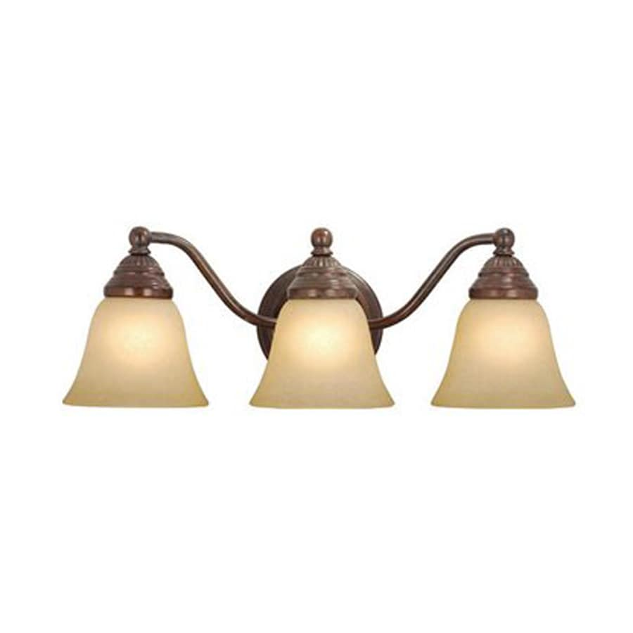 Vanity Lights Bronze : Shop Cascadia Lighting Standford 3-Light 7-in Royal Bronze Bell Vanity Light at Lowes.com