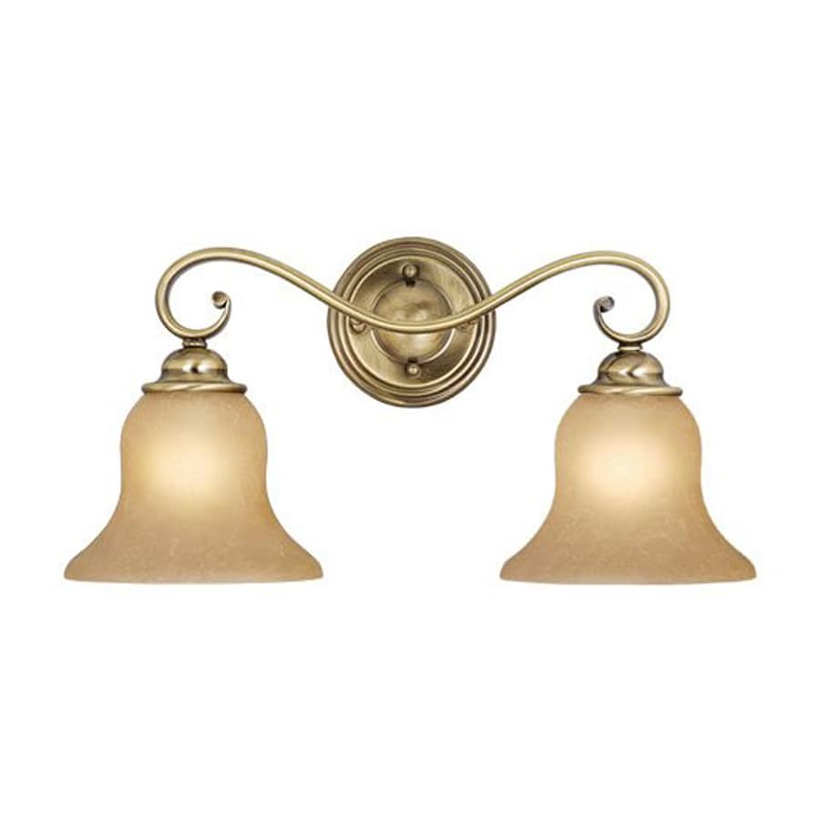 Cascadia Lighting Monrovia 2-Light Antique Brass Vanity Light