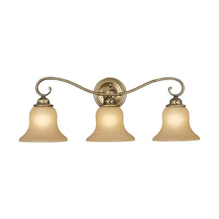 Bathroom Vanity Lights Brass: Shop Cascadia Lighting 3-Light Monrovia Antique Brass