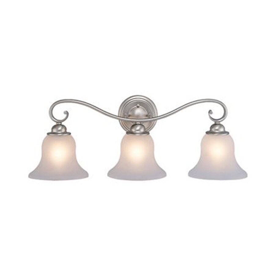 Cascadia Lighting Monrovia 3-Light 9-in Brushed nickel Bell Vanity Light