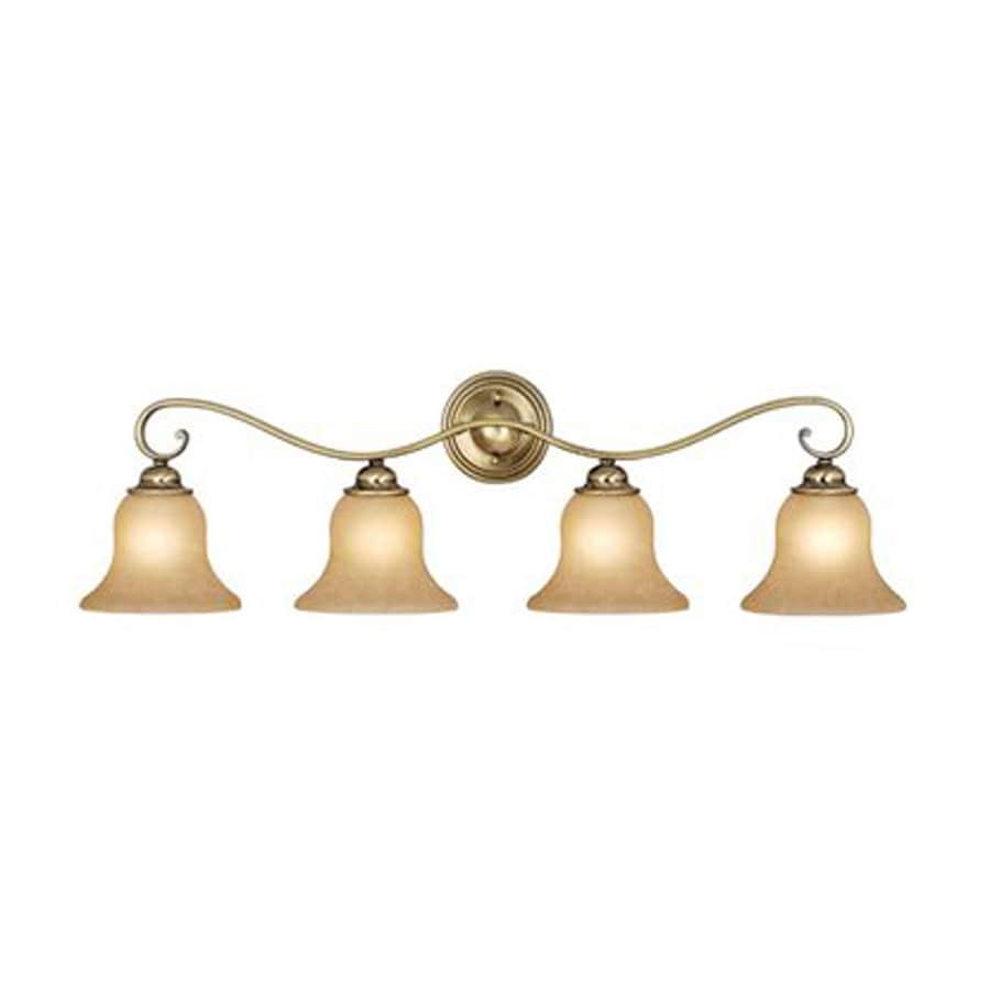 Antique Brass Bathroom Lighting: Shop Cascadia Lighting 4-Light Monrovia Antique Brass
