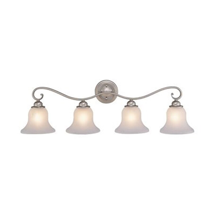 Cascadia Lighting Monrovia 4-Light 10-in Brushed Nickel Bell Vanity Light