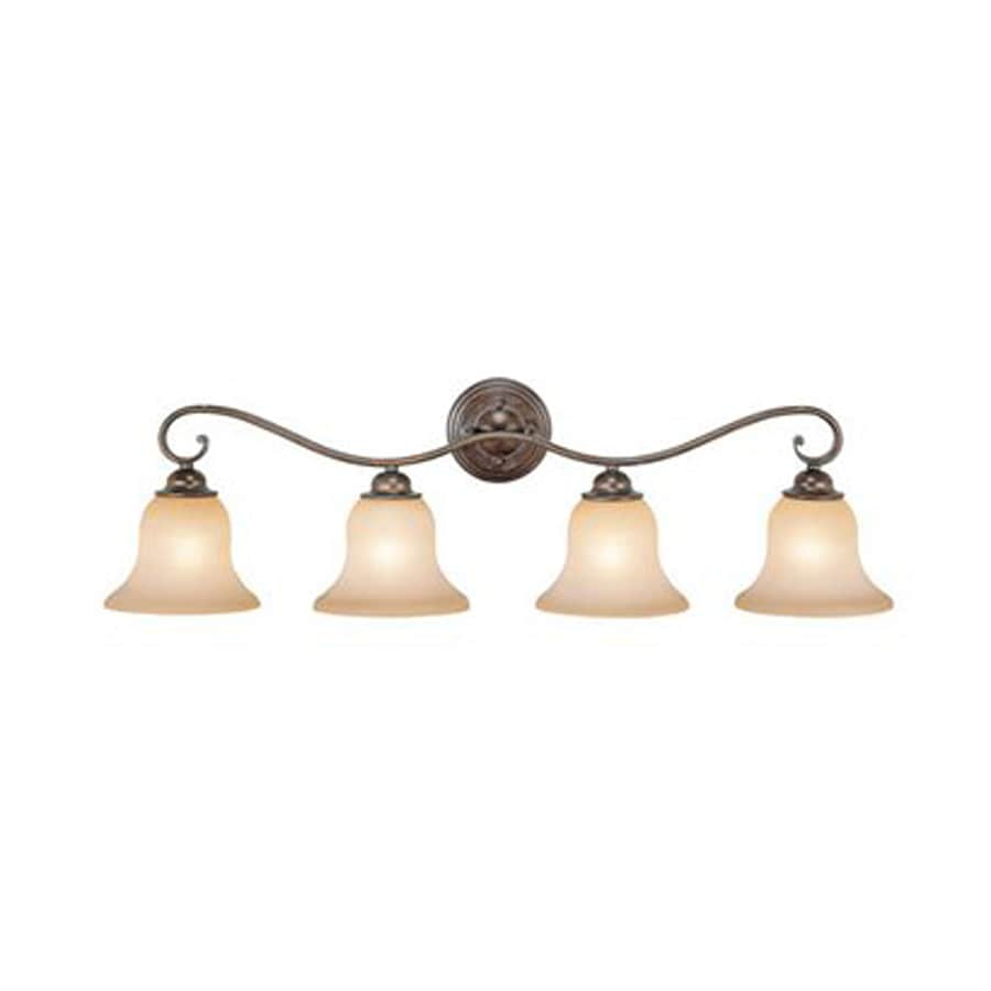 Cascadia Lighting Monrovia 4-Light 10-in Royal Bronze Bell Vanity Light