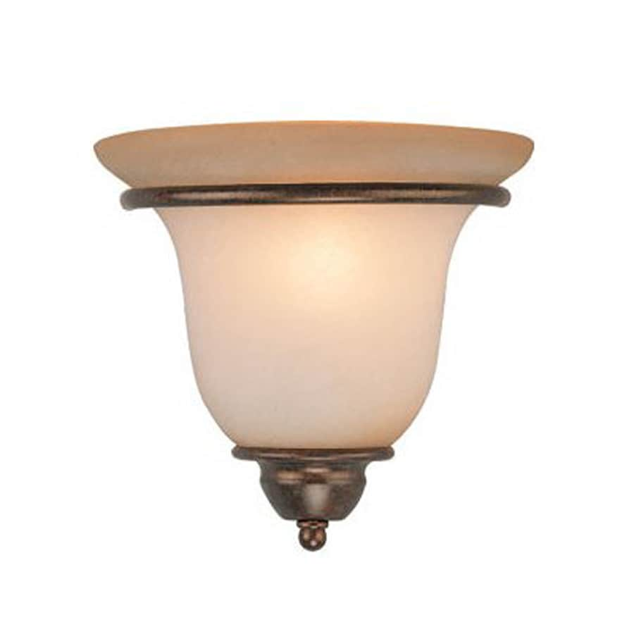 Cascadia Lighting Monrovia 10-in W 1-Light Royal bronze Pocket Wall Sconce