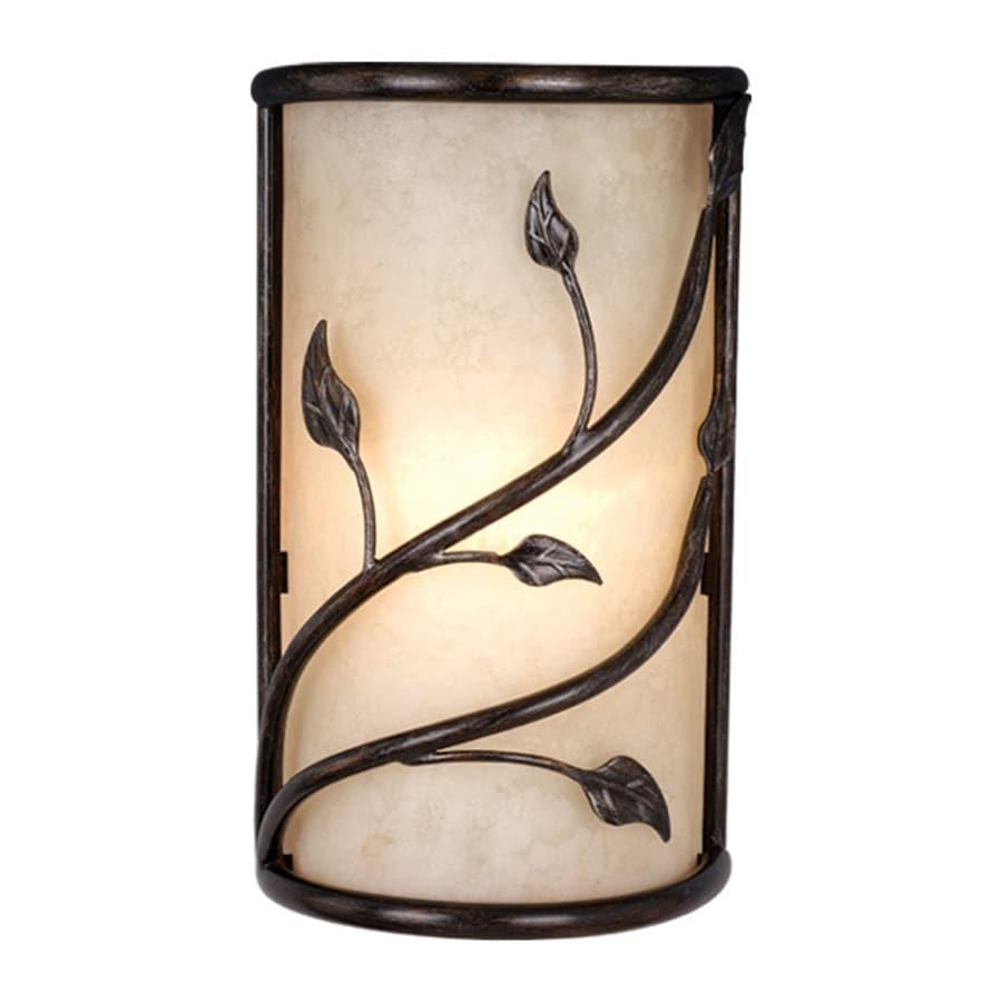 Cascadia Lighting Vine 10-in W 2-Light Oil shale Pocket Wall Sconce