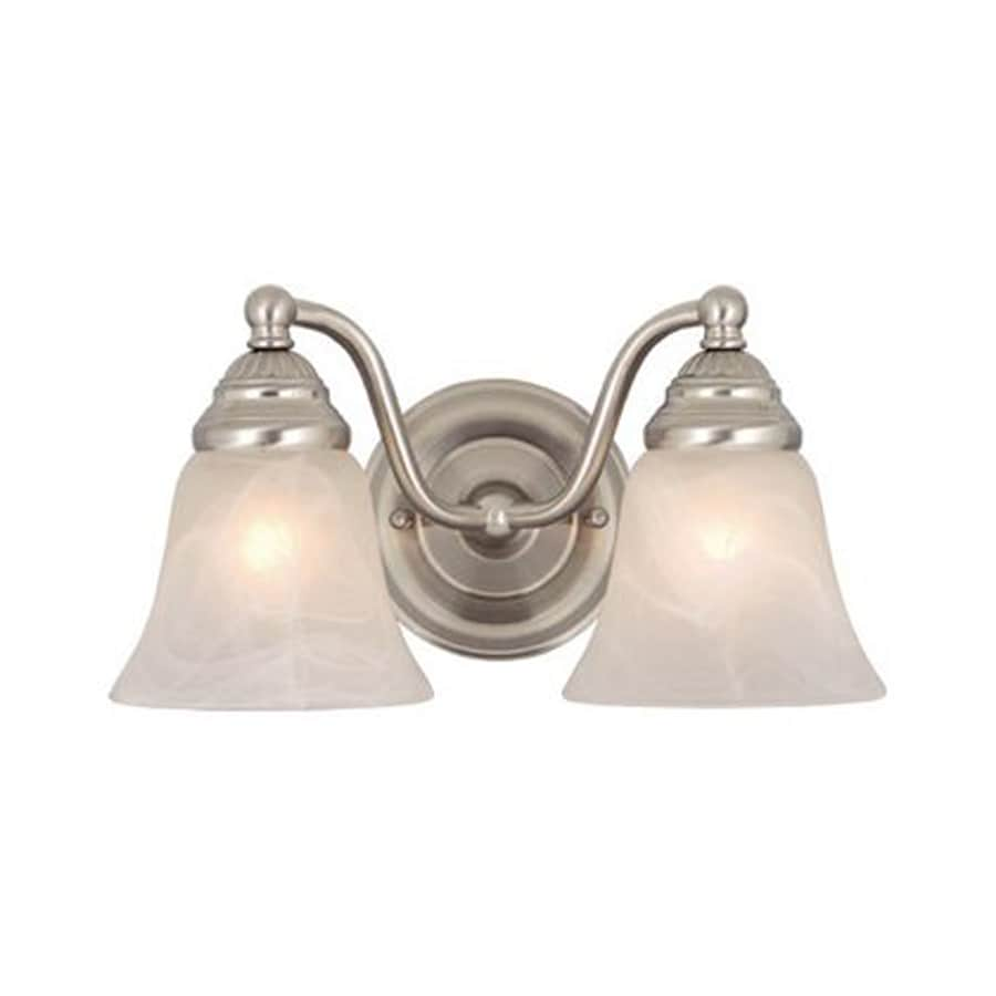 Cascadia Lighting Standford 2-Light 7-in Brushed Nickel Bell Vanity Light