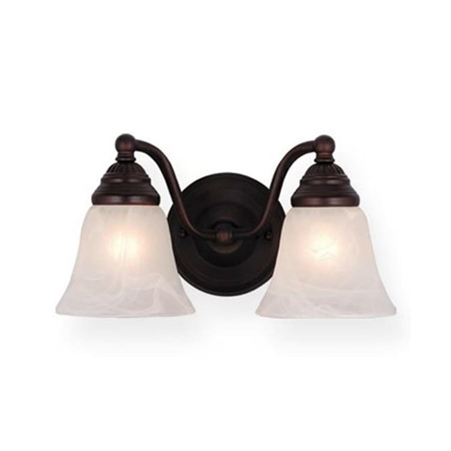 Cascadia Lighting Standford 2-Light Oil-Burnished Bronze Vanity Light