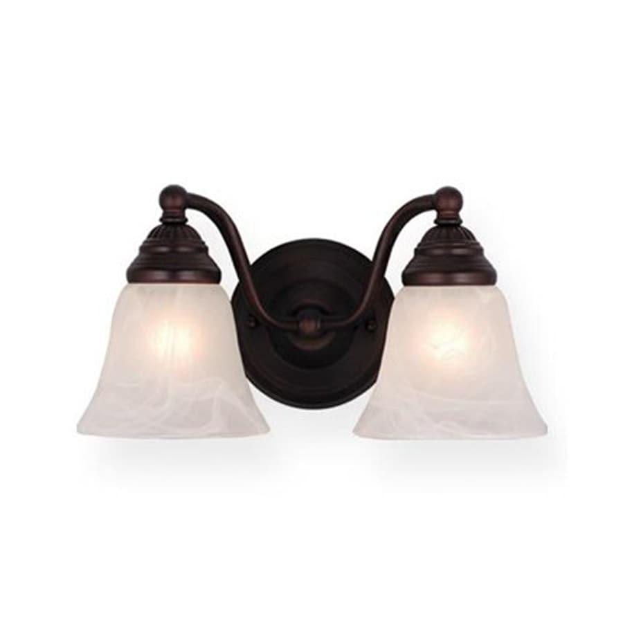Cascadia Lighting Standford 2-Light 7-in Oiled Burnished Bronze Bell Vanity Light