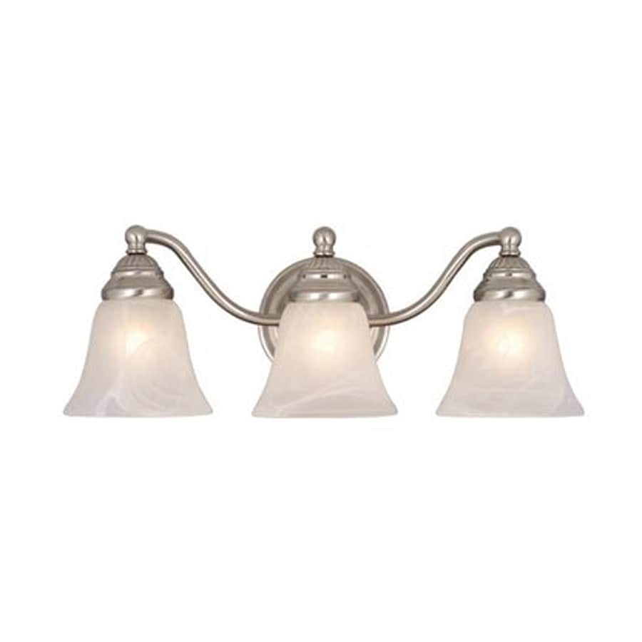 Three Light Bathroom Vanity Light: Shop Cascadia Lighting Standford 3-Light 19-in Brushed Nickel Bell Vanity Light At Lowes.com