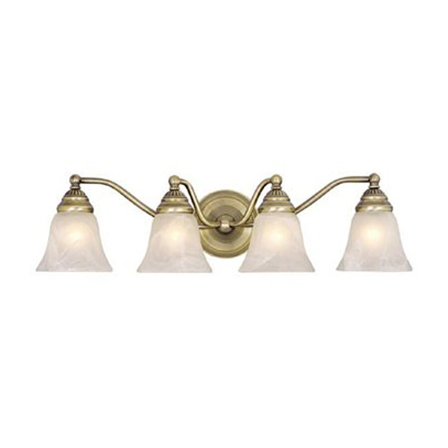Cascadia Lighting 4-Light Standford Antique Brass Bathroom Vanity Light