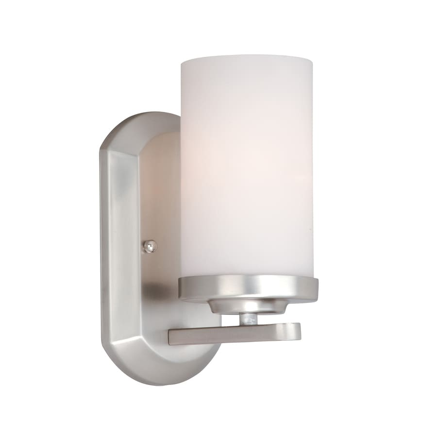 Cascadia Lighting Oxford 1-Light 9.75-in Brushed Nickel Cylinder Vanity Light