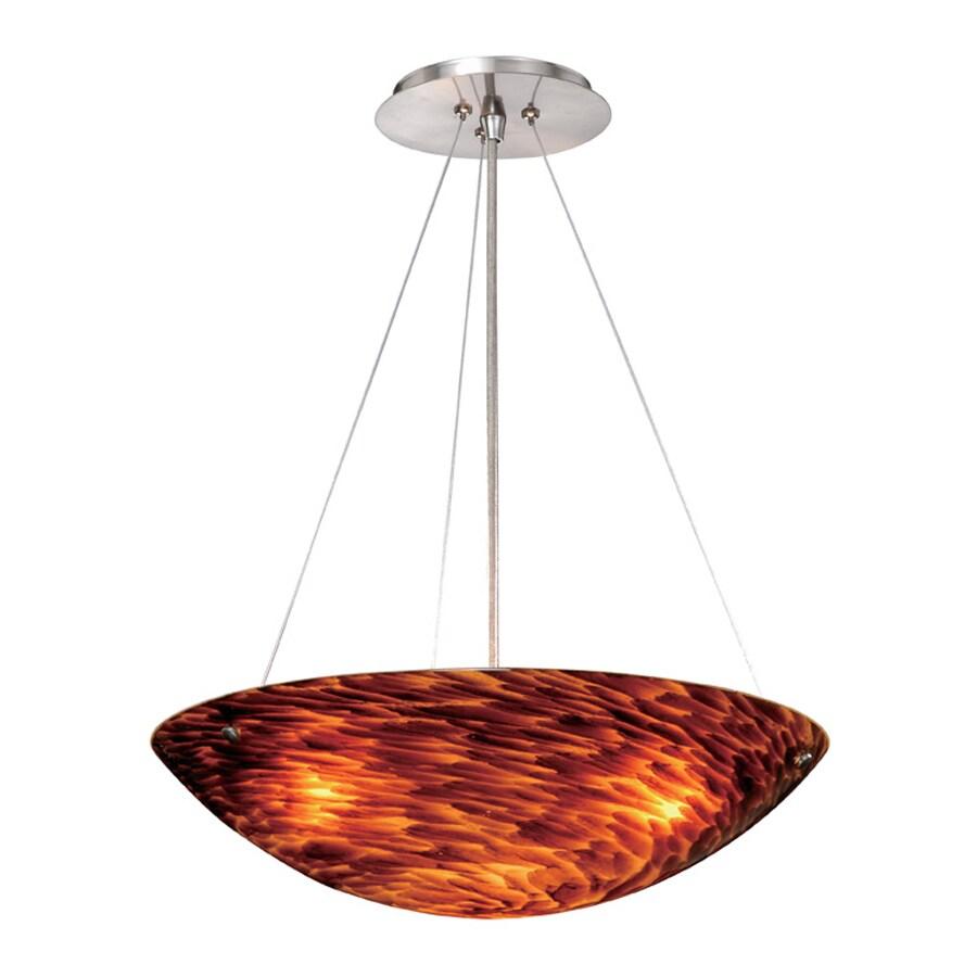 Cascadia Lighting Milano 15.75-in Satin Nickel Single Art Glass Bowl Pendant