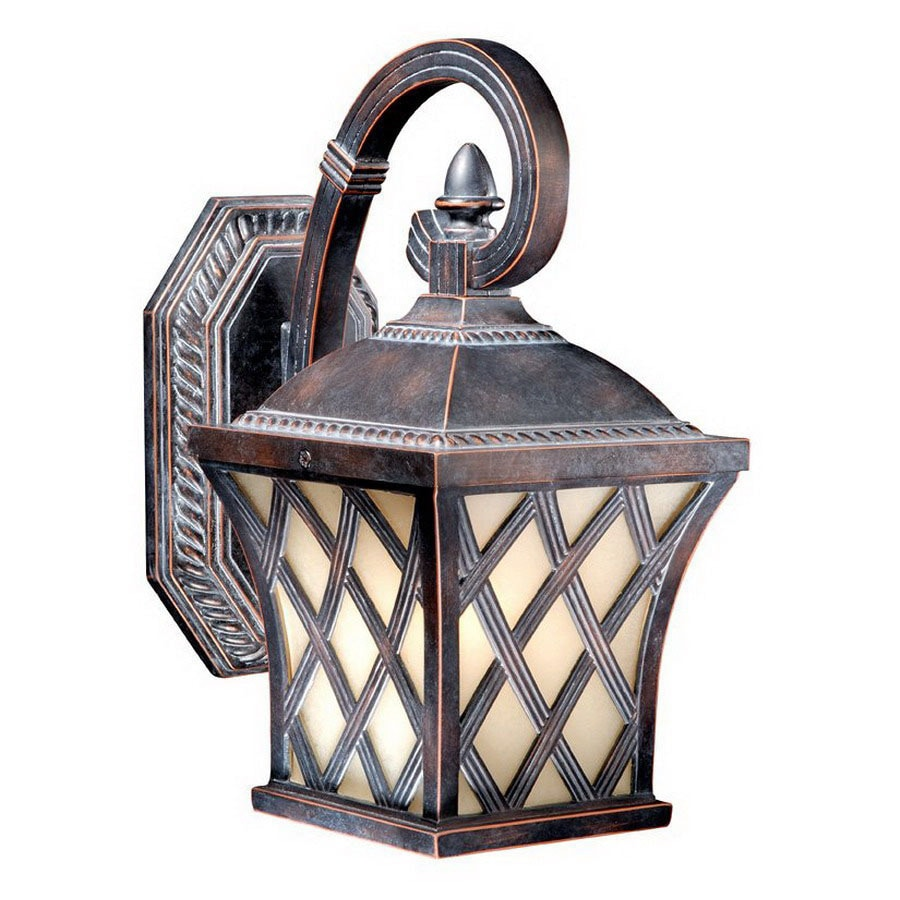 Cascadia Lighting Yorkshire 11-1/2-in Coffee Patina Outdoor Wall Light