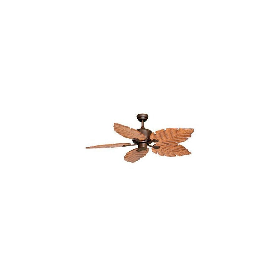 Cascadia Lighting 52-in Palm Beach Burnished Bronze Ceiling Fan