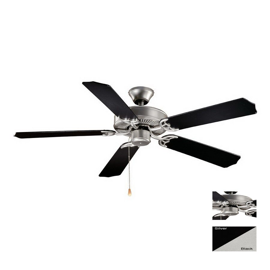 Cascadia Lighting 52-in Medallion Flash Silver Ceiling Fan ENERGY STAR