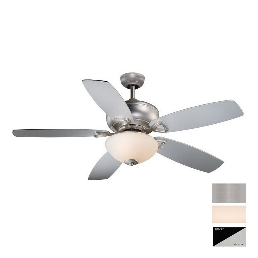 Cascadia Lighting 52-in Montreux Brushed Nickel Ceiling Fan with Light Kit and Remote