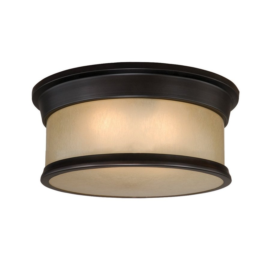 Cascadia Lighting Carlisle 14-in W Noble bronze Flush Mount Light