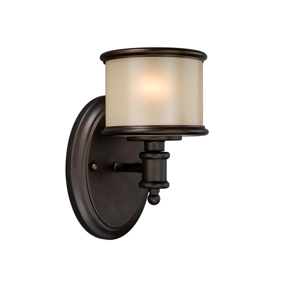 Cascadia Lighting Carlisle 1-Light 8-in Noble Bronze Drum Vanity Light
