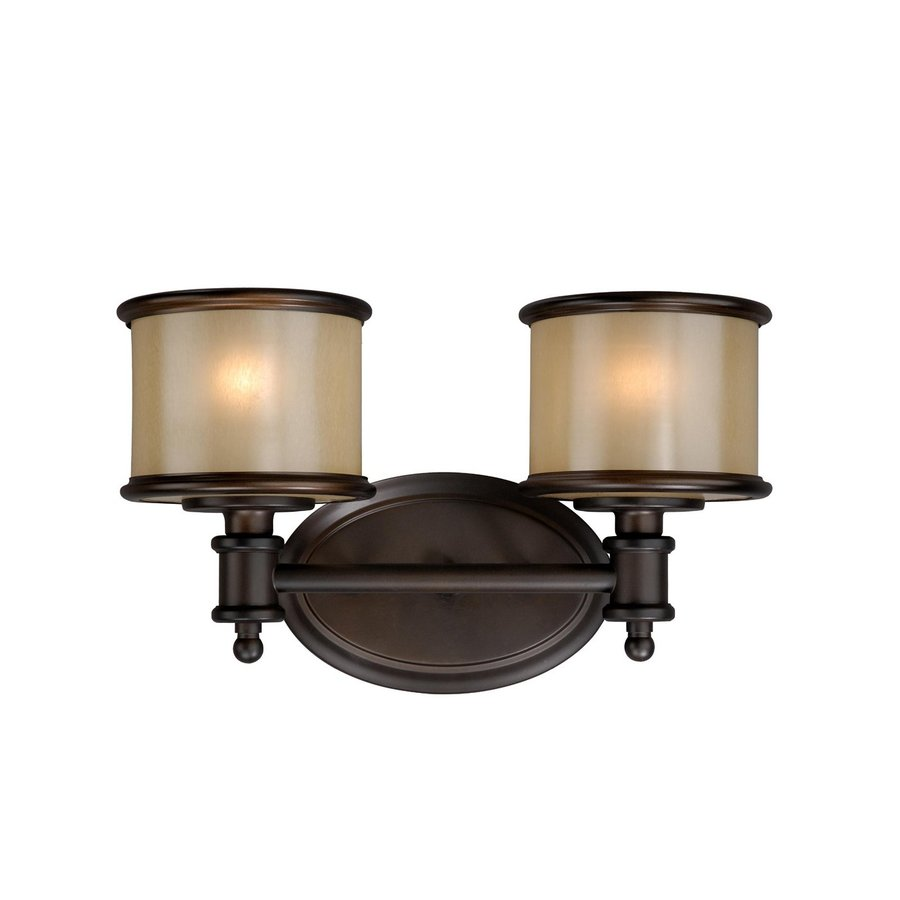 Cascadia Lighting Carlisle 2-Light 8-in Noble Bronze Drum Vanity Light